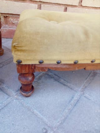 Reposa pies madera maciza vintage años 30/40