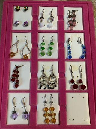 Pendientes y accesorios en plata y swarovski