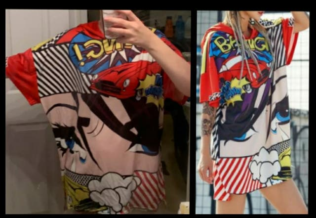 Nueva A Estrenar.Camiseta capucha.Cómic / Pop Art