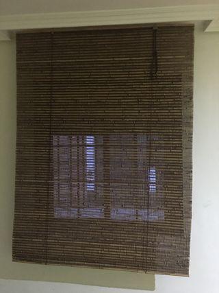 Cortinas bambú