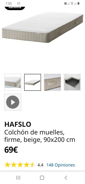 Colchón 90x200