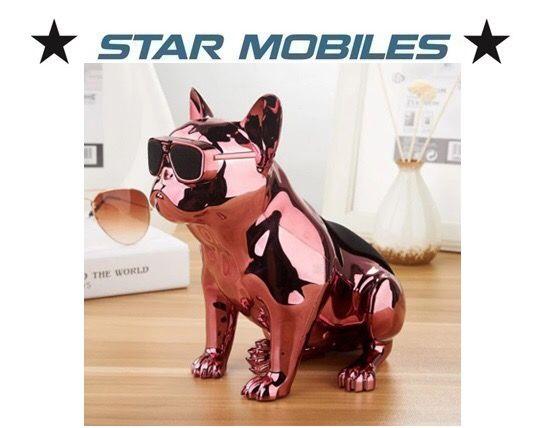 Altavoces portatil bluetooth bulldog metalico