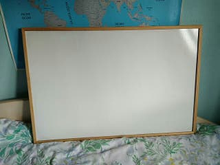 Pizarra de madera blanca