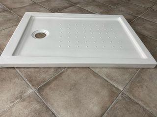 Plato ducha rectangular blanco