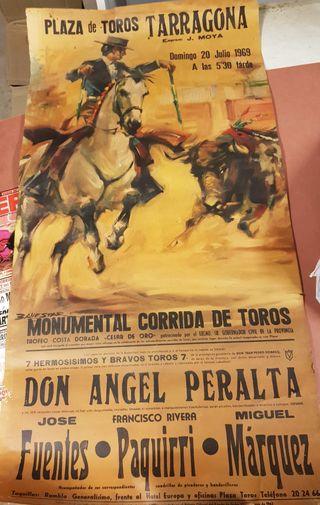 Cartel TOROS antiguo Pl. TARRAGONA