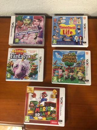 Juegos de la Nintendo 3DS