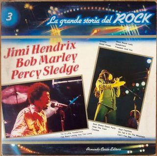 "J. HENDRIX, B. MARLEY, P. SLEDGE ""STORIA DEL ROCK"""