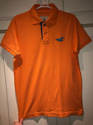 Polo naranja Hollister