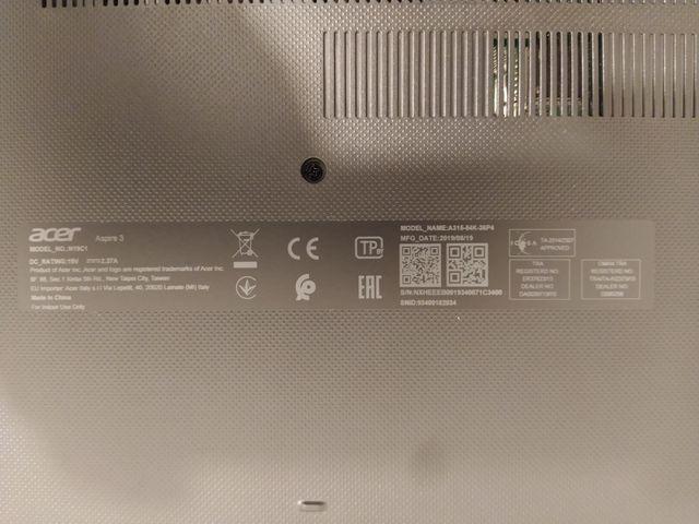 Portátil - Acer Aspire 3 A315-54K-36P4