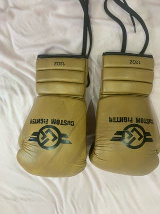 Guantes boxeo 12 onzas custom fighter de cuerdas