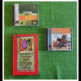 Libro de cocina + CD recetas + CD con webs