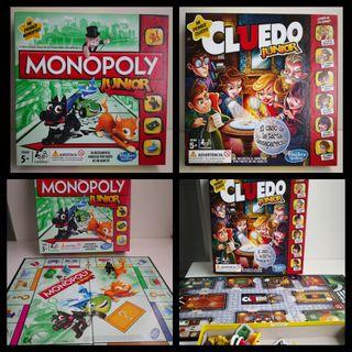Pack juegos de mesa Monopoly y Cluedo Juniors