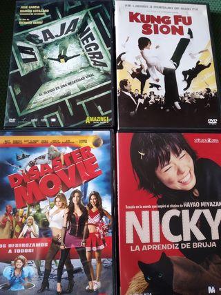 Películas ORIGINALES en DVD. Compra mínima de 2