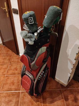 Bolsa completa con palos de golf pasar mujer