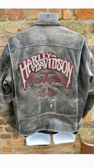Cazadora cuero Harley Davidson USA xl