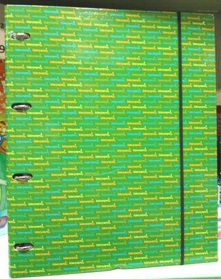 Carpeta 4 anillas con 100 hojas cuadros