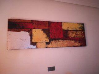 Cuadro decorativo en tonos rojo amarillo negro y
