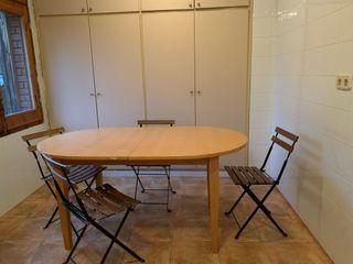 Mesa de madera extensible 4 sillas