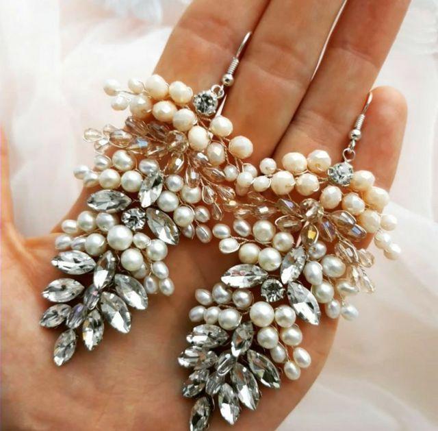 Pendientes de novia de perla agua dulce joya novia