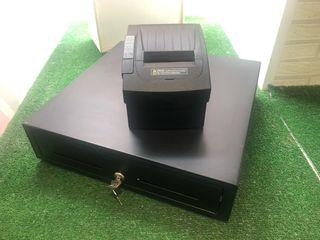 Caja de cambios e impresora de tíquets