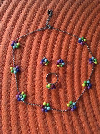 Swatch collar, pendientes y anillo talla 6 Nuevos