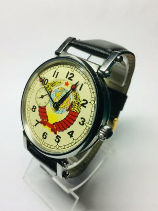 reloj mecánico ruso Molnija años 70 restaurado