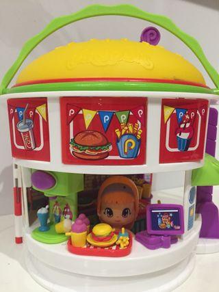 Hamburguesería Pinypon con 1 muñeco