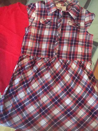 Vestido y chaqueta niña 5 6 años Zara y H&M