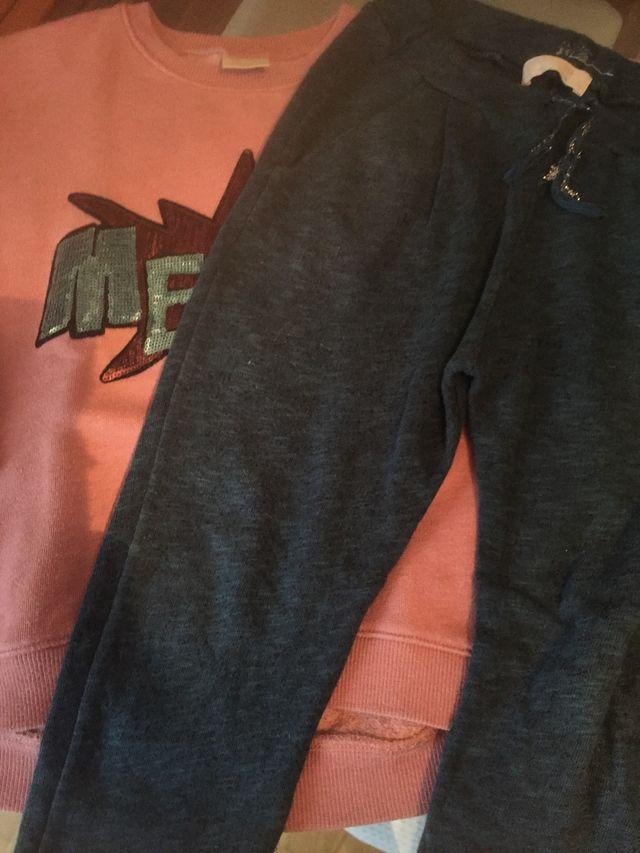 Sudadera y pantalón niña de Zara 7 8 años
