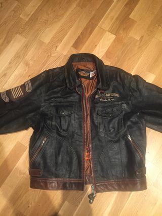 Cazadora de piel Harley Davidson