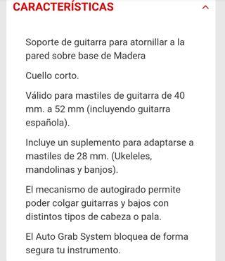 colgador guitarra pared hércules