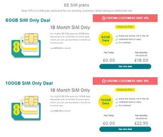 EE Mobile 60GB for £18