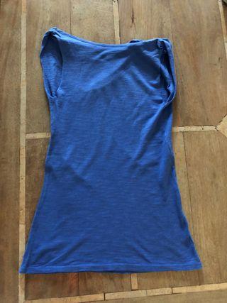 top bleu décolleté bénitier Taille 34-36