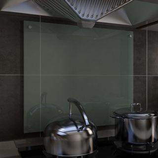 Protector Salpicaduras Cocina Vidrio Templado Blan
