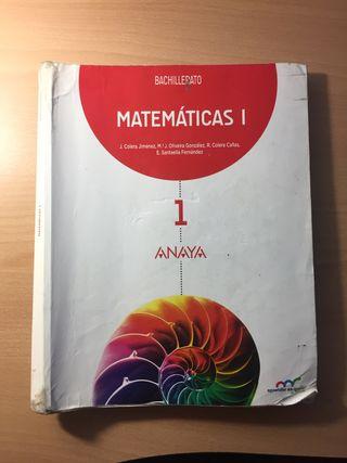 Libro Matemáticas 1° Bachillerato