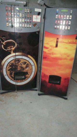 Maquina expendedora de tabaco.