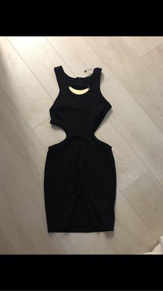 Vestido fiesta negro talla S