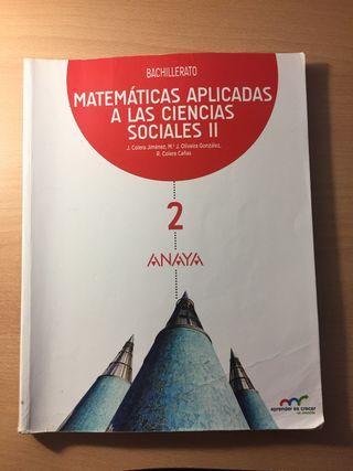 Libro Matemáticas 2° Bachillerato