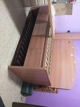 Mueble cama nido e inferior 90cm