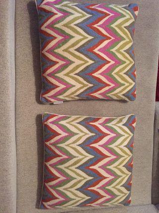 Cojines lana colores