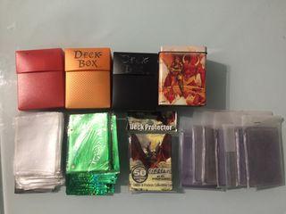Conjunto de fundas y deck box