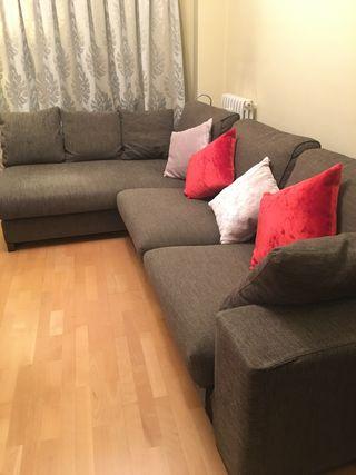 Sofá con dchaise lounge gama alta,