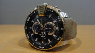 Reloj de pulsera Lanscotte con correa de piel