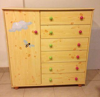 Comoda armario infantil de madera