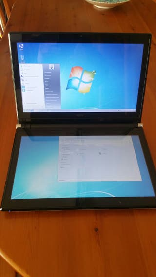 Portatil Acer Iconia PAU30. doble pantalla