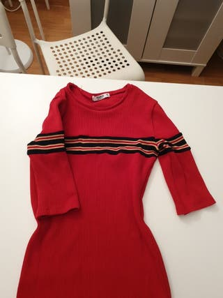 vestido pull and bear rojo