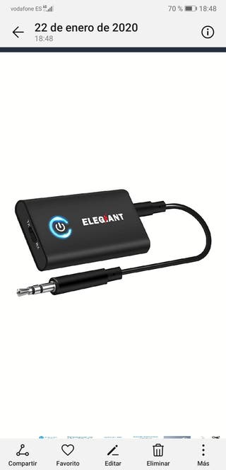 transmisor receptor audio Bluetooth