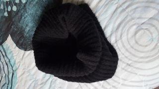 Bufanda circular- cuello negro
