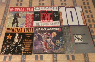 Lote de discos de vinilo makina trance Techno