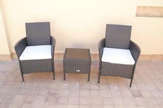 Set de muebles de jardín/terraza mesa+2 sillas